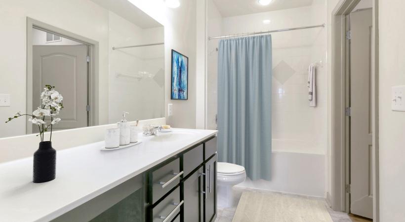 Bathroom with modern fixtures